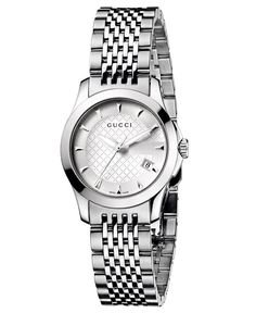 Gucci Watch, Women's Swiss G-Timeless Stainless Steel Bracelet 44mm YA126501 - Gucci - Jewelry & Watches - Macy's