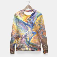 Blue Bird Fitted Waist Sweater by Josephine Wall 49.95€