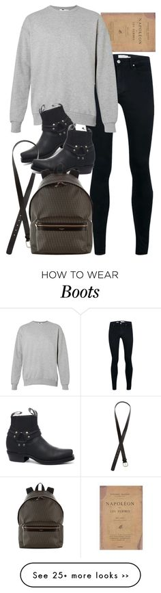 """""""Inspired by Harry."""" by nikka-phillips on Polyvore featuring GRINDERS, H&M and Yves Saint Laurent"""
