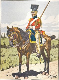 French; Imperial Guard, 2nd Regt Chevau-Legers Lanciers, Lancer of the Old Guard, Tenue de Route, 1811-12