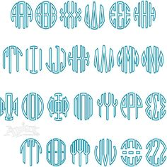 Size: and Sets. Each set has left, right and center letters. Apex Embroidery, Embroidery Fonts, Machine Embroidery Designs, Circle Monogram, Monogram Fonts, Greek Font, Monogram Machine, Silhouette Designer Edition, Greek Alphabet