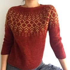 Ravelry: Darkwater pattern by Jennifer Steingass 5 Ideas for Knitting With Lace Weight Yarns The max Hand Knitted Sweaters, Sweater Knitting Patterns, Cardigan Pattern, Knitting Stitches, Knit Patterns, Hand Knitting, Knitted Hats, Pullover Design, Handgestrickte Pullover