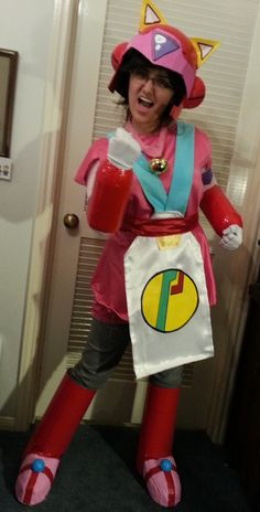 This is our take of Polly Esther from the Samurai Pizza Cats. My daughter Ashley and I made this.