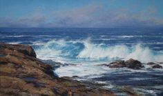 MATT SMITH LOW TIDE oil 18 x 30 in (45.72h x 76.2w cm) $7,900  www.trailsidegalleries.com  #coastal  #california #artshow #oilpaintings #sea #beach #opa #scottsdaleaz  #scottsdale  #trailsidegalleries @trailsidegalleries  #artshow #artoftheday #greatart #reflections #water #sea #waves #ocean #seaside #blue #instabeach #coast #surf @californiaartclub