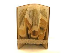 Folded Book Art Pattern to fold MUSICAL NOTES into by Bookfolding