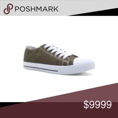 🎉JUST IN🎉 Sneaks! Adorable sneakers in khaki. Pair with your favorite boyfriend jeans or swing dress. So cute!! Fits true to size unless you have an extra long toe like me then 1/2 size up 😬👟 Shoes Sneakers