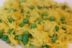 Yellow Rice and Peas - made with Turmeric and basmati rice this recipe could not be more simple. You cook the rice in water or chicken broth that you have added the turmeric too, Add a bit of butter when the water comes to a boil, then add your rice and a bag of frozen peas. As the rice steams, the peas will warm and cook. In 20 minutes you'll have the perfect side dish for you Chicken Tikka Masala or other Indian dishes like Tandoori chicken or a simple curry.
