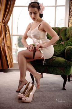 longline girdle and stockings