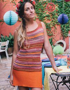 Book Beginners 3 Spring / Summer | 43: Woman Top | Orange-Brown-Beige-Coral