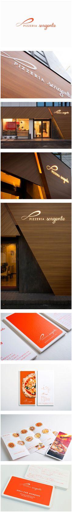 logo branding sign facade design italian pizzeria ロゴ ブランディング サイン 看板 ファサード デザイン イタリアン ピッツェリア