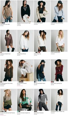 Free People - Tops - upper body, mix of crop, full story styling & h/m