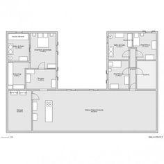 plan maison en u | www.archifacile.f... Lien ... - #En #Lien #maison #plan #wwwarchifacilef