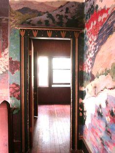 Murals in Pauline Kael's house in Berkeley