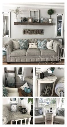 30 trendy farmhouse decor above couch fireplaces -. - 30 trendy farmhouse decor above couch fireplaces -. Diy Home Decor Living Room, Living Room Remodel, Living Room Grey, Apartment Living, Living Room Designs, Apartment Therapy, Living Area, Living Room Wall Decor Ideas Above Couch, Cheap Apartment