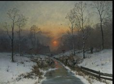 Winter landscape near the river
