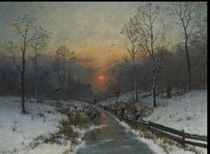 Winter landscape near the river