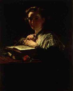 Light Thrown on a Dark Passage, James Sant. English Academic Painter (1820 - 1916)