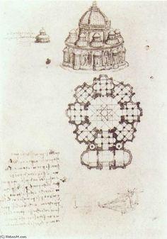 Leonardo Da Vinci-studio von a zentral kirche