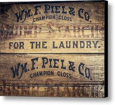 Lump Starch For The Laundry In Warm Brown Canvas Print / Canvas Art By Lisa Russo
