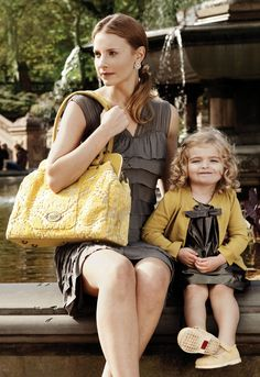Omg, love this picture, the mom & daughter, their outfits, and LOVE this buttercream bag!!