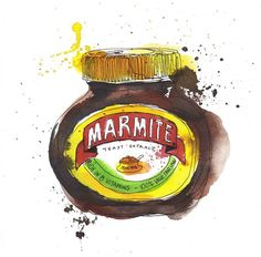 Packaging illustrations, Georgina Luck, on Creative Journal: a showcase of inspiring design, art, architecture and photography. Pen Illustration, Graphic Design Illustration, Georgina Luck, Food Artists, Creative Journal, Journal Design, Golden Syrup, Marmite, Wow Art