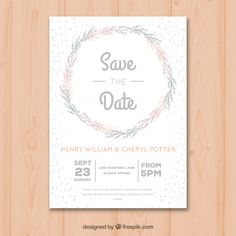 mariage save the date Wedding Card Templates, Wedding Cards, Siloam Springs, Save The Date, Vector Free, Flowers, Flat, Wedding Ideas, Graphic Design