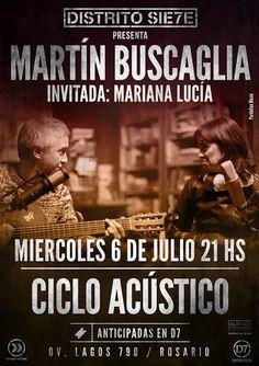 Prensa Martin Buscaglia para Agua de Río Producciones en Distrito Siete - Rosario