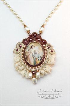 Soutache necklace - Andrea Zelenak S0336