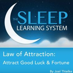 Law of Attraction: Attract Good Luck and Fortune with Hypnosis, Meditation, and Affirmations: The Sleep Learning System -- You can get more details by clicking on the image.