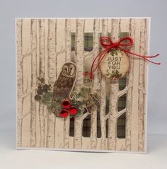Card created with Winter Woodland Collection, made by Julie Hickey www.craftworkcards.com