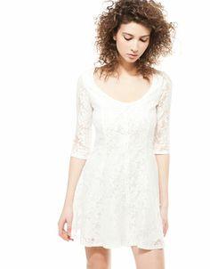 Bershka button-up lace dress