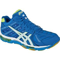 NEW at All Volleyball! Asics Men's B305Y Gel-Volleycross Revolution MT. A volleyball shoe with a 3/4 midtop! Also available in Black/White.