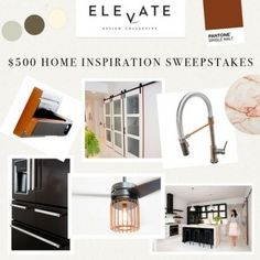 I just entered the ELEVATE Design Collective $500 Home Inspiration Sweepstakes. Enter here: [REFER_URL]