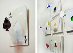 Yuki Matsueda - 3D sculptures  (uses a heat press to mold PET plastic into shapes that hold the bulging element in mid-air)