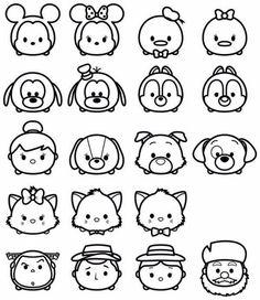 "• Disney "" TSUM TSUM "" 색칠놀이 디즈니 썸썸♥️ : 네이버 블로그 Tsum Tsum Coloring Pages, Disney Coloring Pages, Coloring Book Pages, Cute Disney Drawings, Cute Easy Drawings, Disney Diy, Disney Crafts, Kawaii Doodles, Stamps"