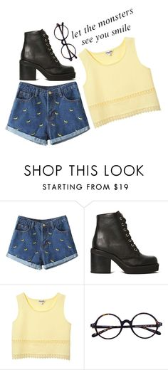"""""""; grammar police ;"""" by adriannaslokis ❤ liked on Polyvore featuring Jeffrey Campbell"""