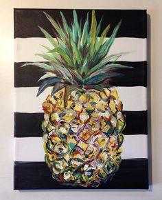 Pineapple, Friend, Paint, 2017