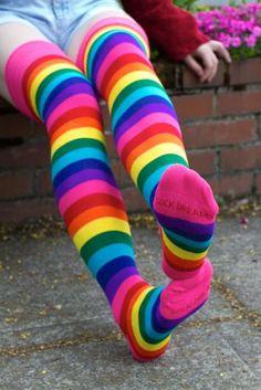 Thigh High Boots Heels, Thigh High Socks, Thigh Highs, Knee Socks, Heel Boots, Striped Tube Socks, Striped Tights, Sexy Socks, Cool Socks