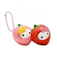Sanrio Hello Kitty Fruits Market Twin Strawberries Squishy (◕ᴥ◕) Kawaii Panda - Making Life Cuter