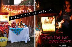 Backyard Movie Night: DIY Party | Movie Night Ideas