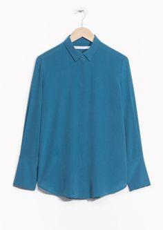 & Other Stories | Wide Cuff Silk Shirt