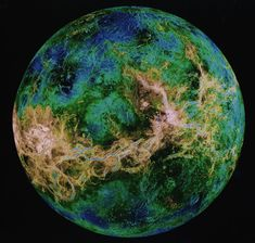 "RADAR image of the surface of Venus- ""surface"" of Venus is composed from a mosaic of radar images taken by the Magellan spacecraft"