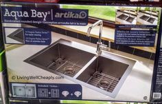 Artika Aqua Bay Double Kitchen Sink at Costco Living Well Cheaply