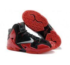 390494fd999c0 Miami Heat Away Nike Cheap Lebron James 11 Shoes PS Elite Metallic Red  Black Silver Grey 616175 012