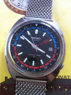Vintage Seiko Navigator Timer Automatic Self Winding Mens Watch GMT | eBay