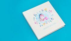 Álbum de fotos recém nascido - newborn 20x20cm, álbum fotográfico infantil encadernação profissional todo, encomendar e comprar album de fotos infantil menino ou menina, Álbum de fotos e fotolivros personalizados infantil para bebê e criança