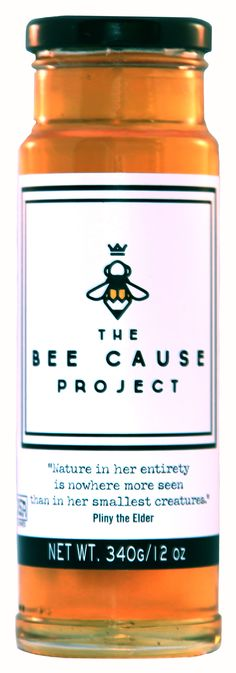 Packaging Design. The Bee Cause Project. A non-for profit organization that is sponsored by ted dennard, owner of savannah bee company. this organization basically donates observation hives to schools around the U.S. to teach the next generation about honeybees and why they are so important to our ecosystem. this label was designed by lindsey rowland. like her style? go to www.lindseyrowland.com for more info