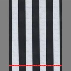 Black & Silver Moire Striped Velvet Flocked Wallcovering design by Burke Decor