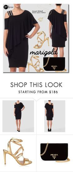 """""""Stay Golden: Dressing in Black And Marigold"""" by premiereavenue-boutique ❤ liked on Polyvore featuring Joseph Ribkoff, MICHAEL Michael Kors and Prada"""