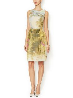 Cotton Bow Front Printed Dress from Classic Ladylike Style on Gilt